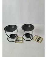 lummessence Candles Wax Melt Simmer Pot Lot Of 2 Black Metal Rustic Trad... - $39.88