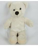 "Build a Bear Workshop 15"" Plush White Teddy Bear Stuffed Animal BAB - $18.39"