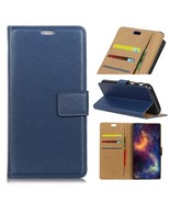 For ZTE Blade A520 PU Leather Wallet Stand Flip Mobile Cover - Dark Blue - $7.46