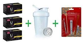 U by Kotex Click Regular Tampons 50 CT (Pack of 3) + Shaker Bottle assor... - $69.85