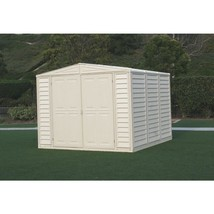 Storage Shed w/ Foundation 8 x 8 Lockable Double Door Latch Outdoor Gard... - $840.47