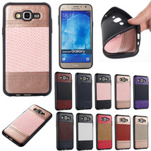 Shockproof Weave Leather Soft TPU Case Cover for Samsung Galaxy J5 J7 J320 J720 - $6.45
