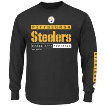 Majestic Men's NFL Primary Receiver Long-Sleeved Tee Steelers M #NIO26-416 - $24.99