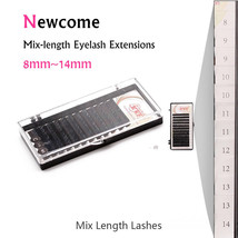 Newcome® Mix Length B C D Curl Eye Lash Extension 8mm to 14mm All Size K... - $15.72+