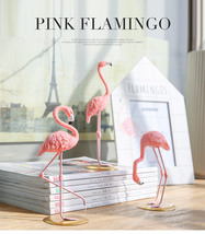 1 Piece Resin Pink Flamingo Home Decor animal Figure Gifts for Girl  - €12,83 EUR