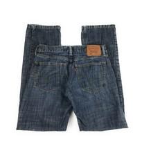 Levi's Men's 514 Slim Fit Straight Leg 100% Cotton Distressed Blue Jeans... - $18.50