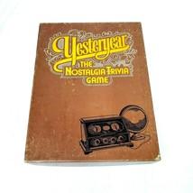 Yesteryear Vintage Board Game 1973 SKOR-MOR Nostalgia Trivia Complete - $15.89