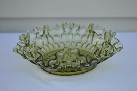 Fenton Thumbprint Colonial Green Bonbon Dish  #4435 CG - $14.85