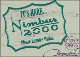 Harry Potter Nimbus 2000 Broomstick Ad Logo Image Refrigerator Magnet NEW UNUSED - $3.99