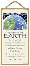 Advice from the Earth Wood Sign - Officially Licensed From Your True Nature - $12.86