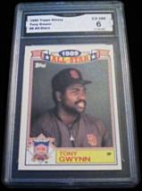 1990 Topps Glossy Tony Gwynn GMA Graded 6 EX-NM All Star Baseball Card 8 - $7.75