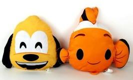 Just Play Walt Disney Emoji Pluto and Nemo Plush Pillows Mickey Mouse Fr... - $19.99