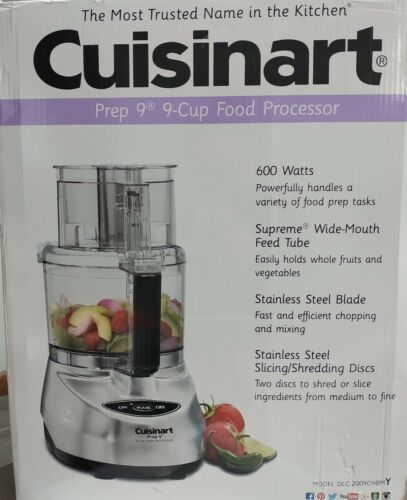 Primary image for Cuisinart Prep 9 Food Processor 9-Cup Brushed Aluminum CFP-9SVPCY1 NEW IN BOX