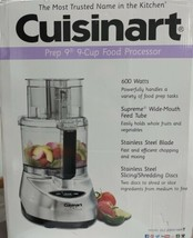 Cuisinart Prep 9 Food Processor 9-Cup Brushed Aluminum CFP-9SVPCY1 NEW I... - $89.09