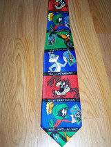 Men's Looney Tunes Neck Tie USPS Stamp Print Daffy Duck Bugs Tasmanian Devil  - $14.00