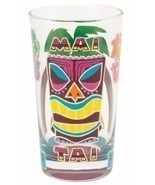 Lolita Love My Cocktail MAI TAI GLASS - Hand Painted Multi-Color Tiki Ma... - $19.64