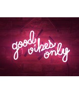 """New Good Vibes Only Home Decor Acrylic Back Neon Light Sign 14"""" Fast Ship - $60.00"""