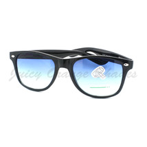 Classic Black Square Horn Rim Sunglasses with Bright Colorful Lens - $6.95