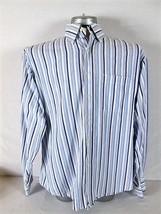 Tommy Hilfiger Mens Large L/S White Blue Striped Button Down Shirt (T)P - $12.33