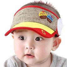 Baby Toddler Sun Protection Hat Infant Cap Without Top 9-36Months(Yellow)