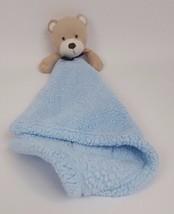 Blankets & Beyond Blue Teddy Bear Lovey Baby Bo... - $39.59