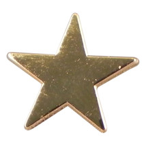 gold star Metal Enamel Badge Lapel /tie Pin Badge  with clip for rear of badge.