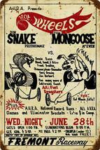 Hot Wheels Prudhomme vs Mongoose  Metal Sign - $30.00