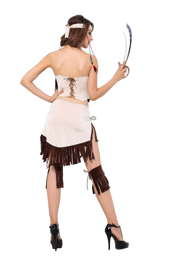 Native American Indian Princess Tribal Costume  Cosplay Dress