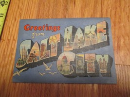 Salt Lake City Utah UT Souvenir Folder Postcard - $3.99