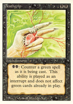 Magic: The Gathering 3rd Edition - Deathgrip - $0.25