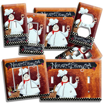 Drunk Italian Fat Chef Light Switch Outlet Plates Kitchen Dining Room Art Decor - $10.99+