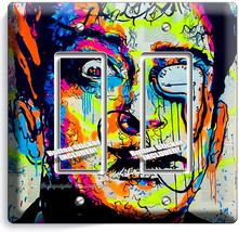 SALVADOR DALI ABSTRACT DOUBLE GFI LIGHT SWITCH WALL PLATE COVER ART STUD... - $10.79