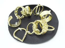 New 12 Piece Free People Mega Mix Gold Ring Set by Free People #R1239 - $12.86