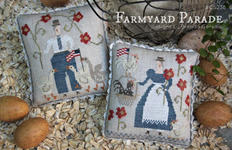 Farmyard Parade cross stitch chart  With Thy Needle Brenda Gervais