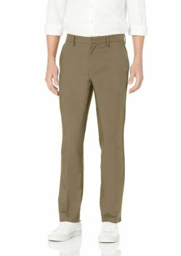 Goodthreads Mens Straight Fit Stretch Performance Chino Fatigue 38×34 Pants NEW