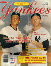 August 7, 1986 New York Yankees Magazine Roger Maris Mantle Old Timers D... - $4.94