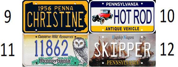 1/43-1/5 scale custom license plates any brand RC/model car - Pennsylvania tag