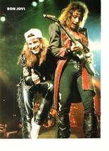 Jon Bon Jovi teen magazine pinup clipping thumb up 1980's Tiger Beat Rockline