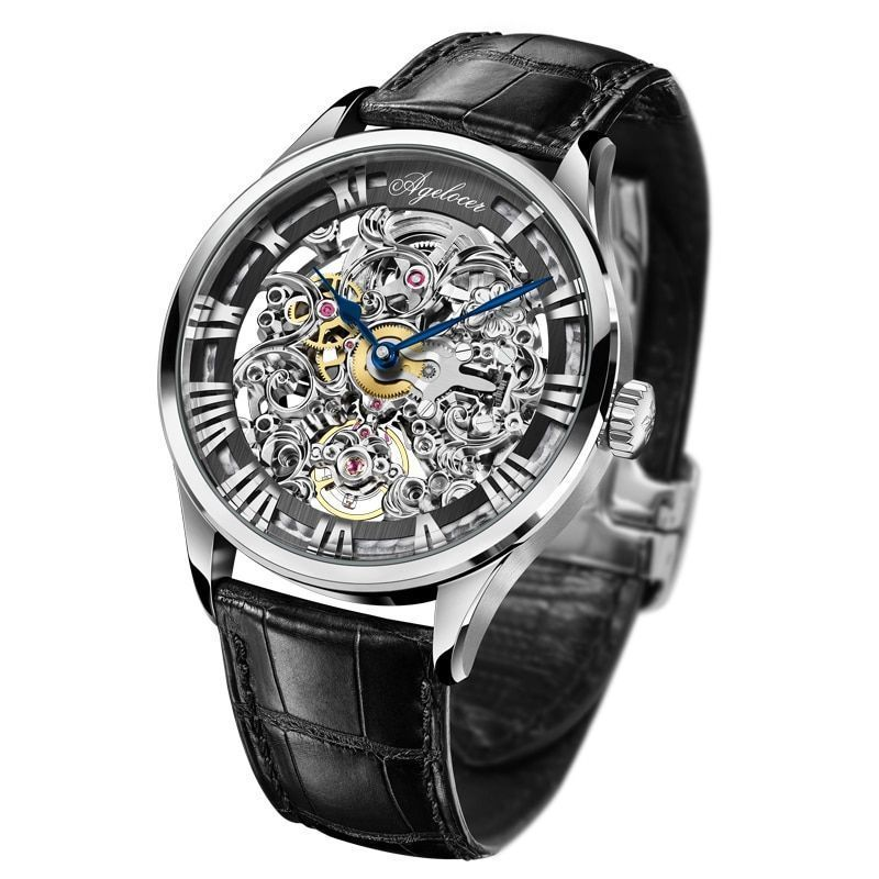 Sport Design Swiss Men Watch Automatic Mechanical Skeleton Luxury Sapphire Dial