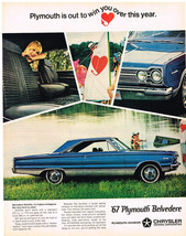 Vintage 1967 Magazine Ad Plymouth Belvedere Satellite Is A Sport-Bred Lu... - $5.93