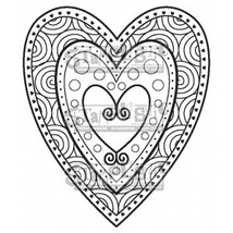 Heart, Petite. Stamplistic Layering Stamps. Stained Glass.  CLEARANCE