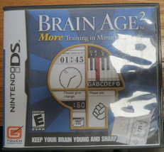 Brain Age 2: More Training in Minutes a Day (Nintendo DS, 2007) - $5.00