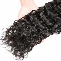 "Water Wave 3 Bundles 10"" 12"" 14"" Brazilian Human Hair 8A Unprocessed Wet and Wav image 8"
