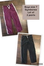 Boys Size 7  Lot Of 2 Lined Pull On Athletic Pants Gymboree - $12.87