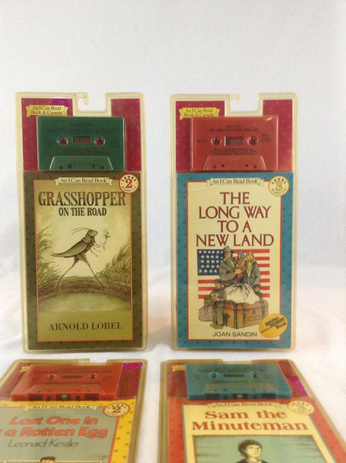 Lot Of 4 Harper Children's Audio All I Can Read Books And Cassette Tapes Listen