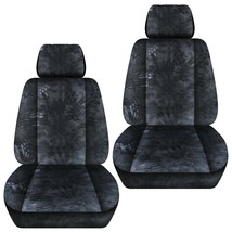 Front set car seat covers fits Chevy Equinox  2005-2020   kryptec charcoal - $69.99