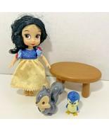 Disney Animators Collection Snow White Mini Doll Playset figures chipmun... - $12.86
