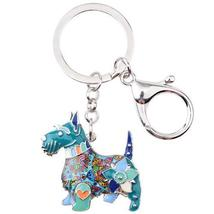 Scottish Terrier Dog Key Chain 6 Beautifull Color - $9.99