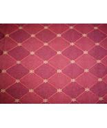 "Crimson Red Diamond Lattice Upholstery Fabric 55"" Wide 1 Yard - $19.99"