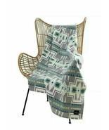 "Pendleton Harding Luxe 100% Polyester 50""x70"" Throw Blanket Southwest Gr... - $42.56"